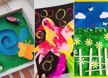 20 idées de bricolages sur le thème des fleurs et du printemps