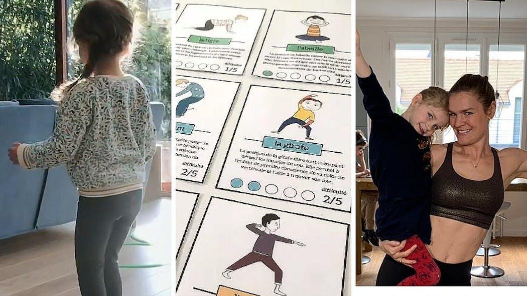 10 idées pour bouger avec les enfants à la maison: yoga, danse, etc