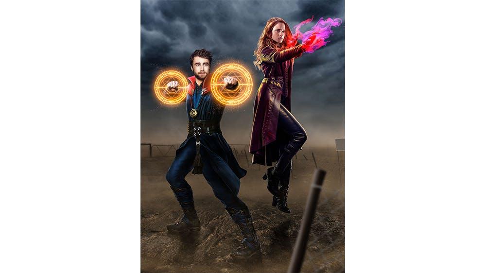 Harry Potter et Hermione Granger en Docteur Strange et Scarlet Witch