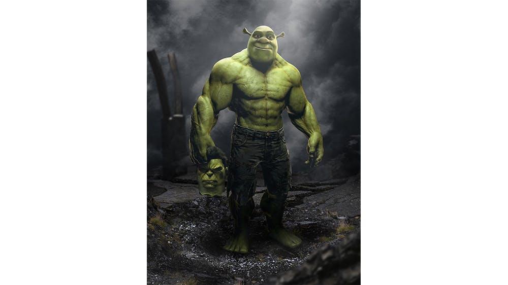 Hulk et Shrek