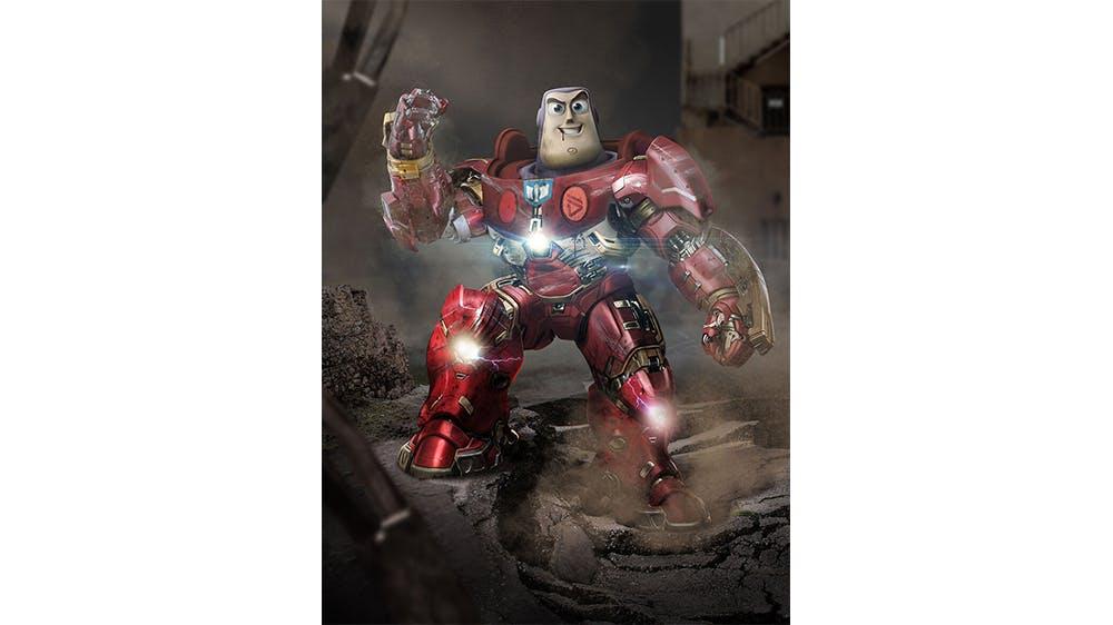 Buzz l'éclair et Iron Man