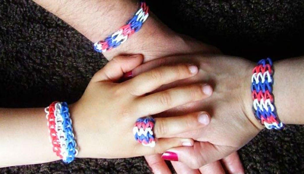 bracelets tricolores