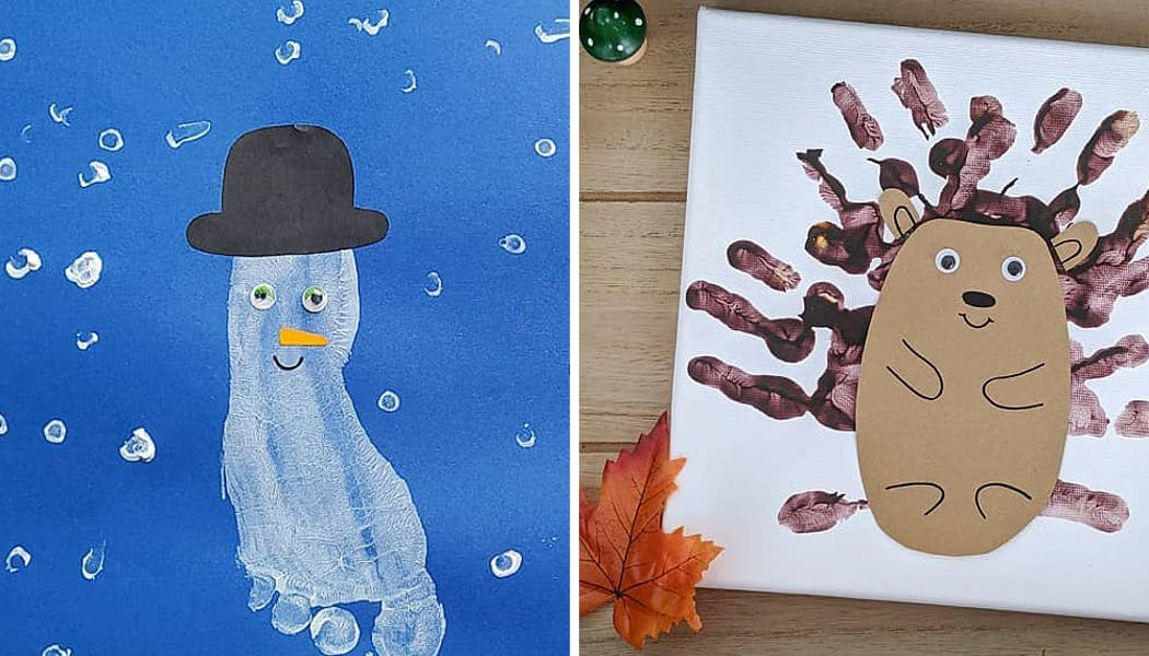 deux peintures avec la main ou le pied