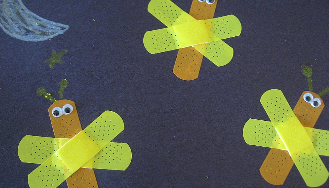 lucioles réalisées avec des pansements