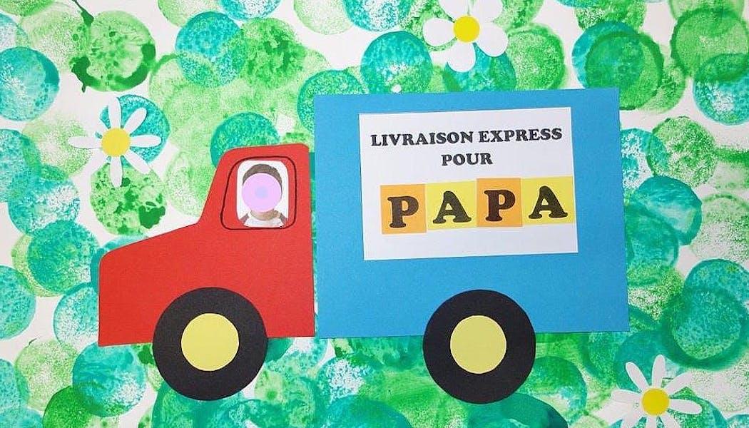 Une carte avec un camion