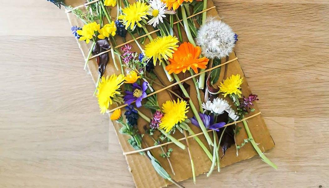 tableau éphémère de fleurs
