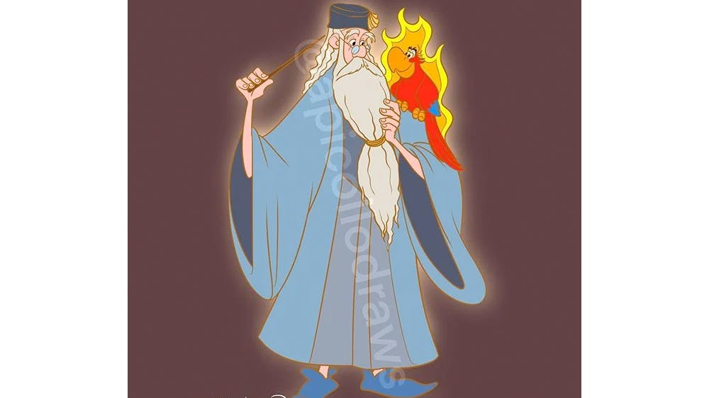 Quand Merlin et Iago deviennent Dumbledore et Fumseck... par Alex Pick