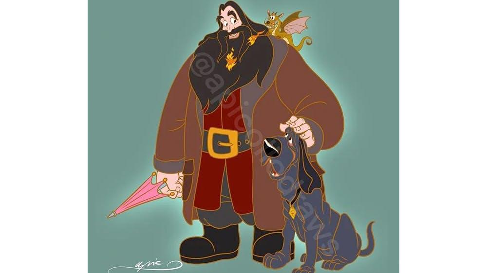 Quand Le Roi Titron, Mushu et César deviennent Hagrid, Norbert et Crockdur... par Alex Pick