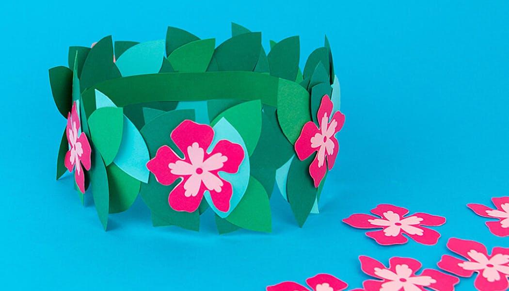couronne de fleurs tahitienne
