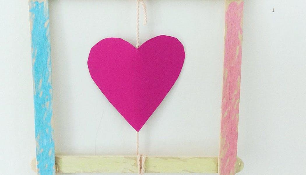 cadre avec un coeur
