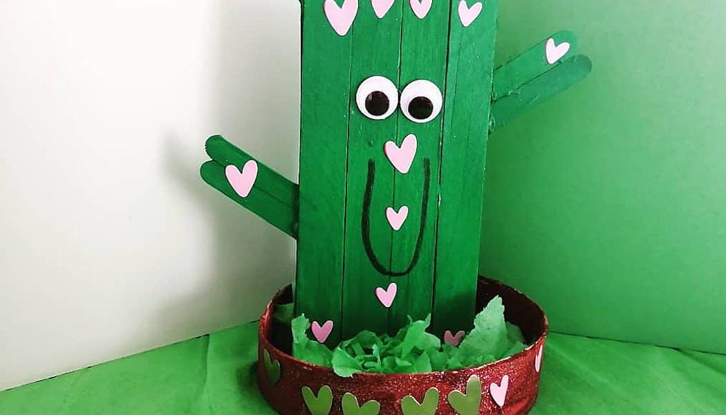 cactus fait avec des bâtonnets