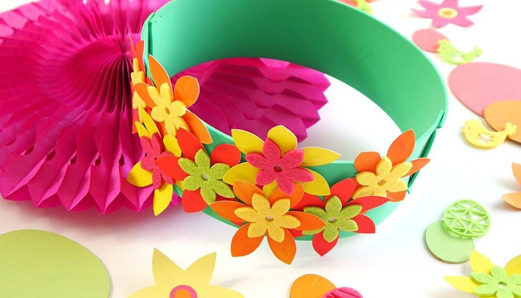 couronne de fleurs en mousse