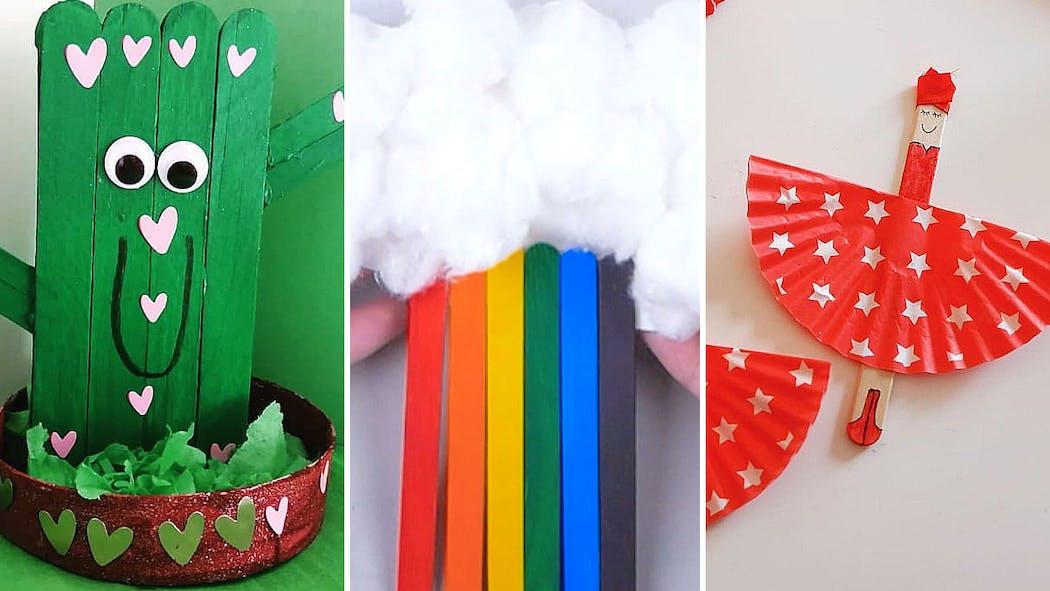 DIY : les meilleures idées de bricolage avec des bâtonnets de glace