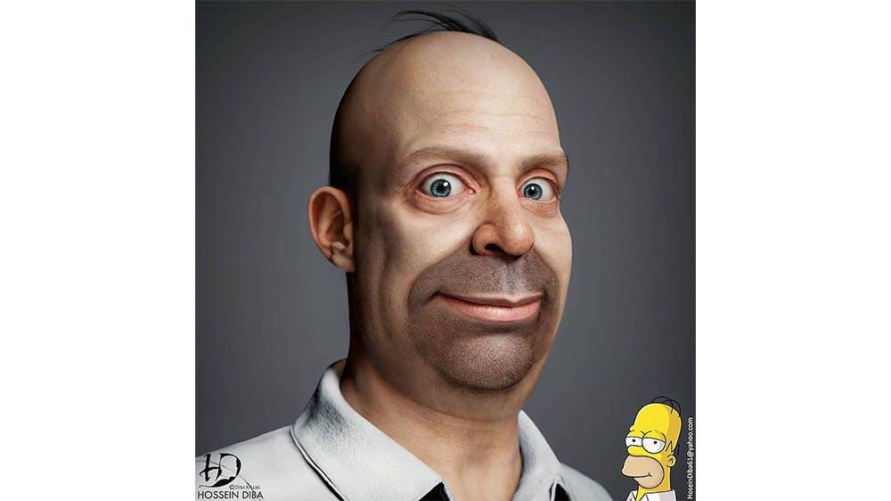 Portraits en 3D de personnages célèbres par Hossein Diba