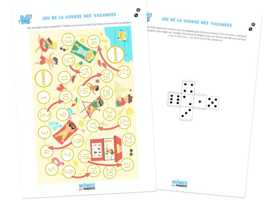 Document PDF du jeu de la course des vacances
