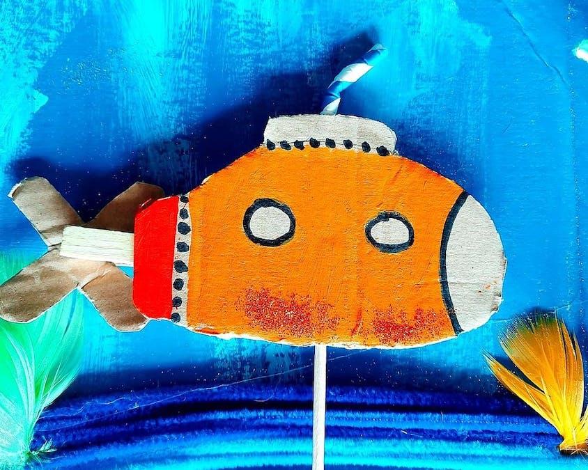 sous-marin en carton