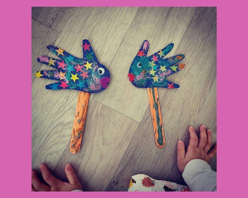 marionnettes en forme de poisson