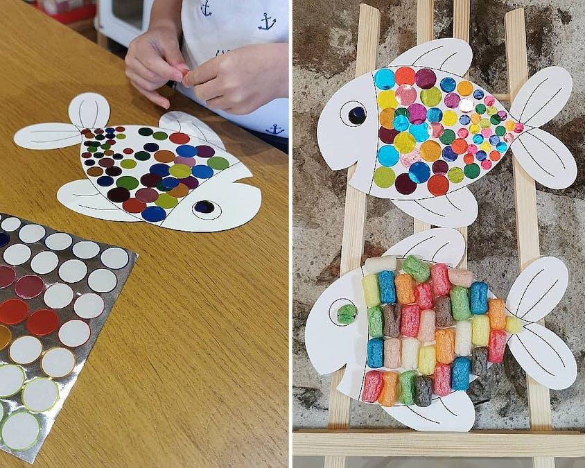 Des poissons multicolores