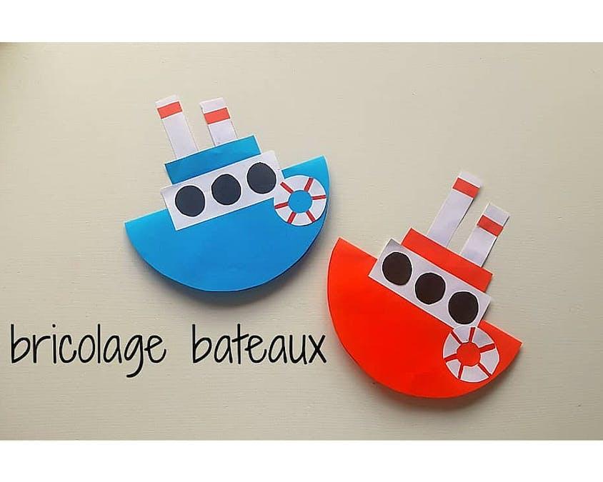 bateaux en carton