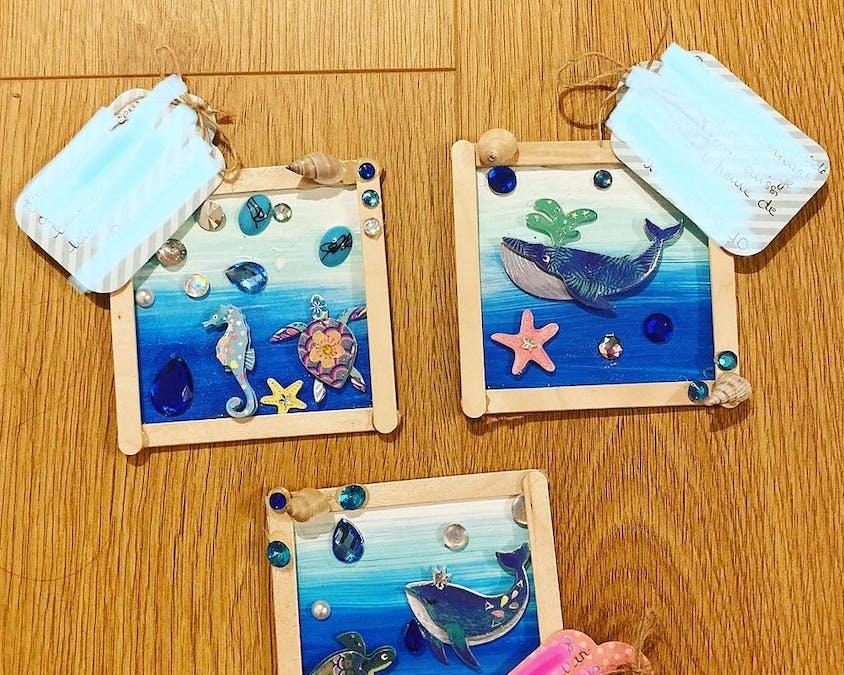 tableaux sur les fonds marins