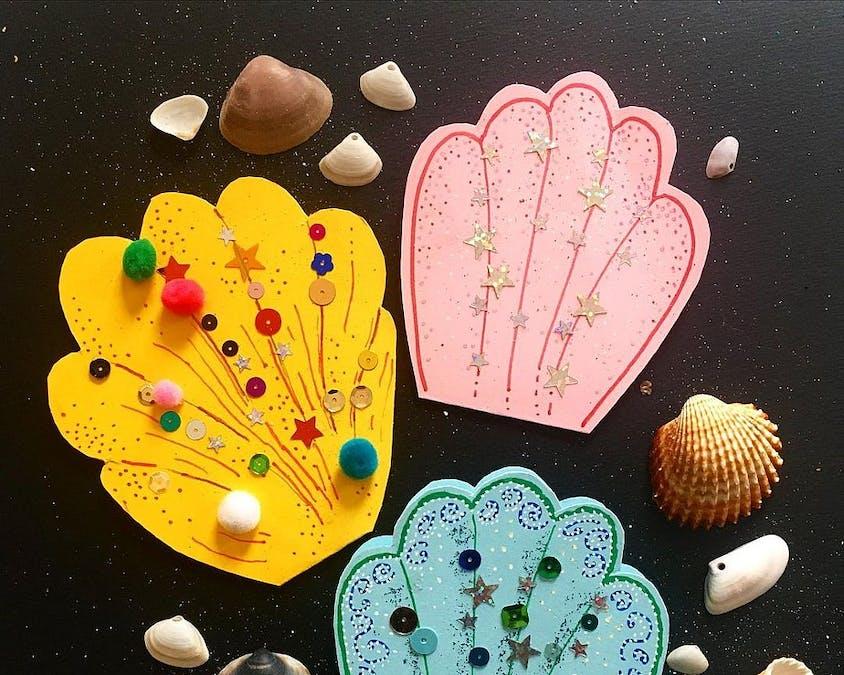 Une carte en forme de coquillage