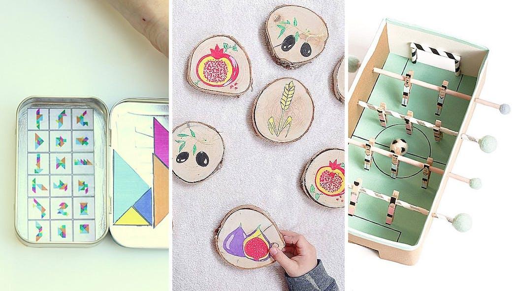 20 mini jeux pour enfants faits maison à emporter en vacances