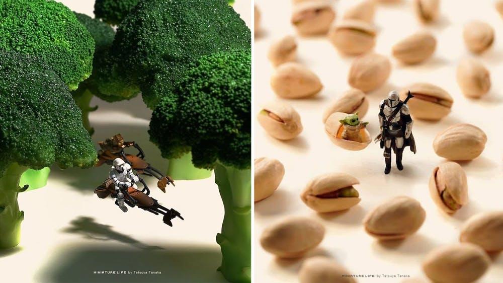 Star Wars : les scènes miniatures de Tatsuya Tanaka