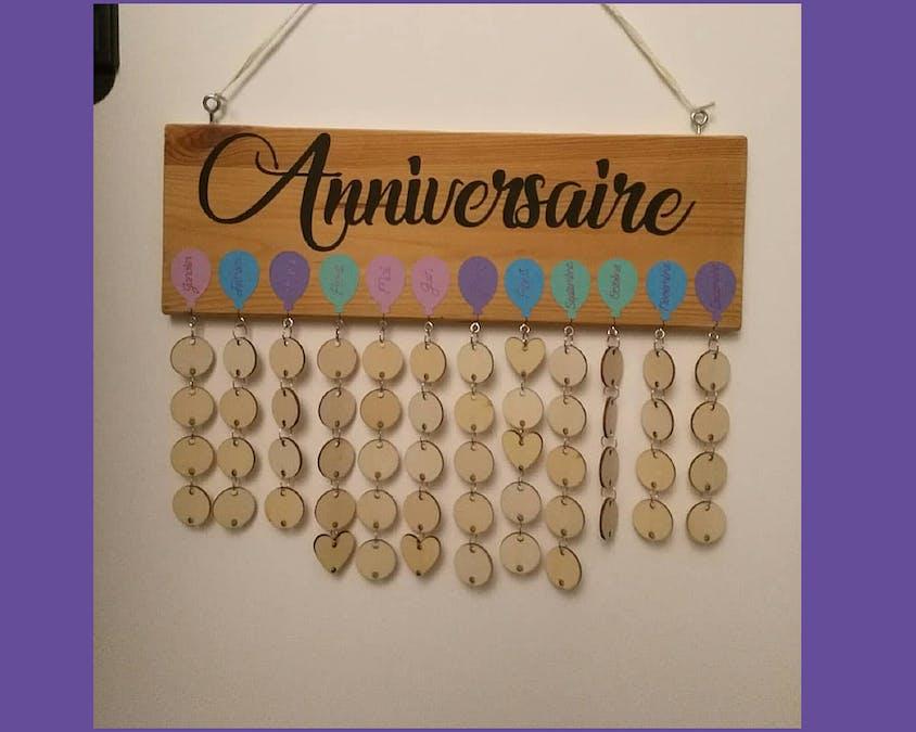 Un calendrier des anniversaires