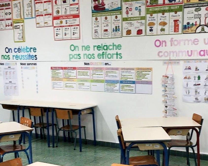 Des affiches sur les valeurs de la classe