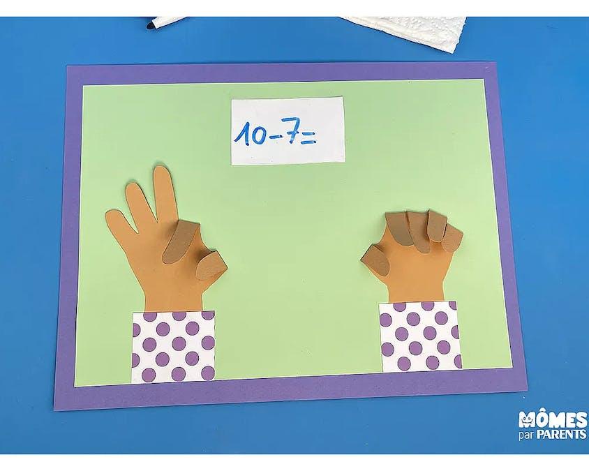 set pour apprendre à compter sur ses doigts