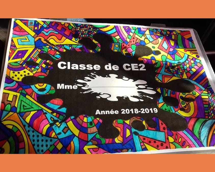 affiche pour se présenter aux élèves