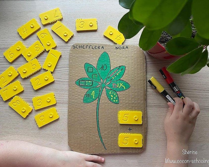 La fleur des nombres en carton