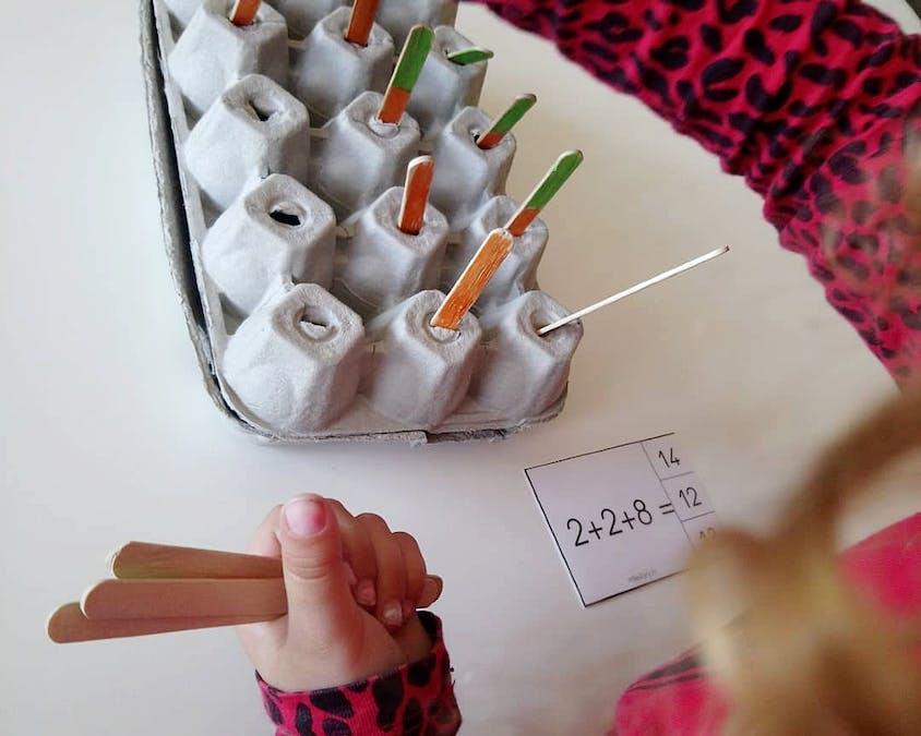 potager de carottes permet de réviser les additions et les soustractions