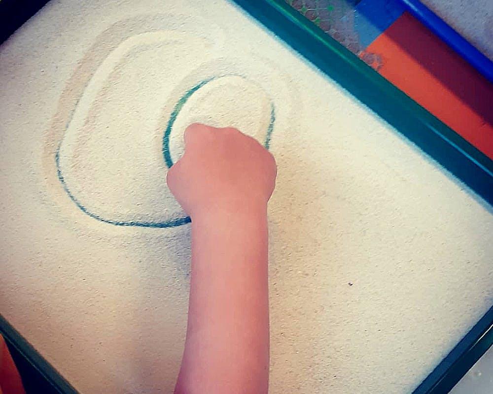 dessins dans le sable