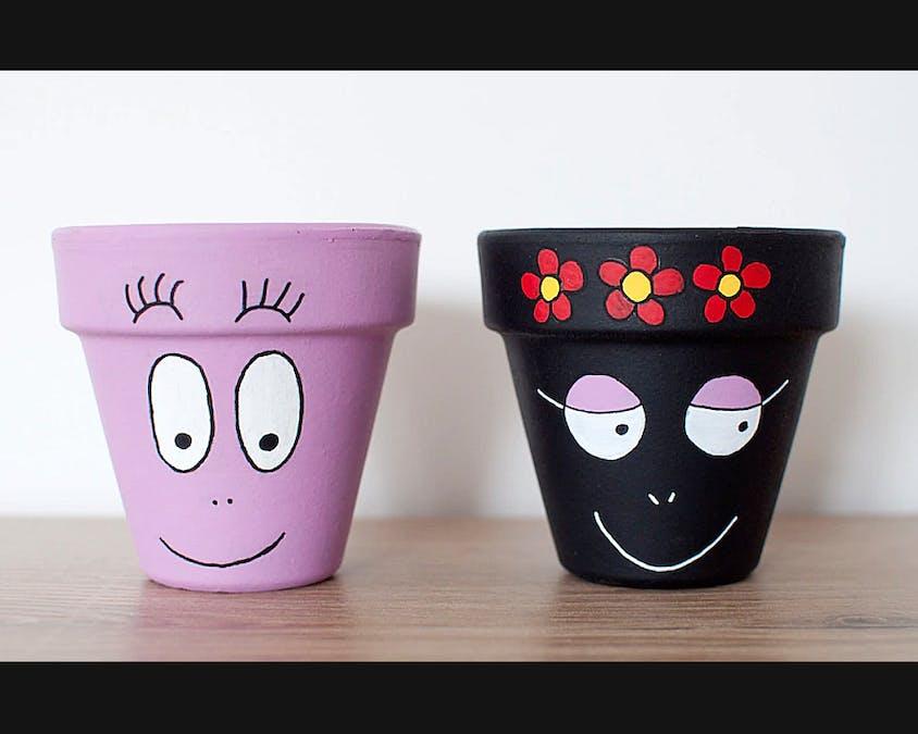 pots de fleurs Barbapapa