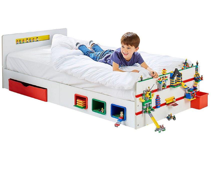 lit Lego avec plein de rangement