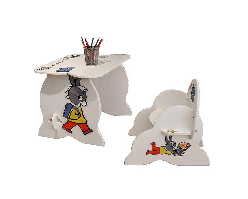 table et fauteuil avec Trotro