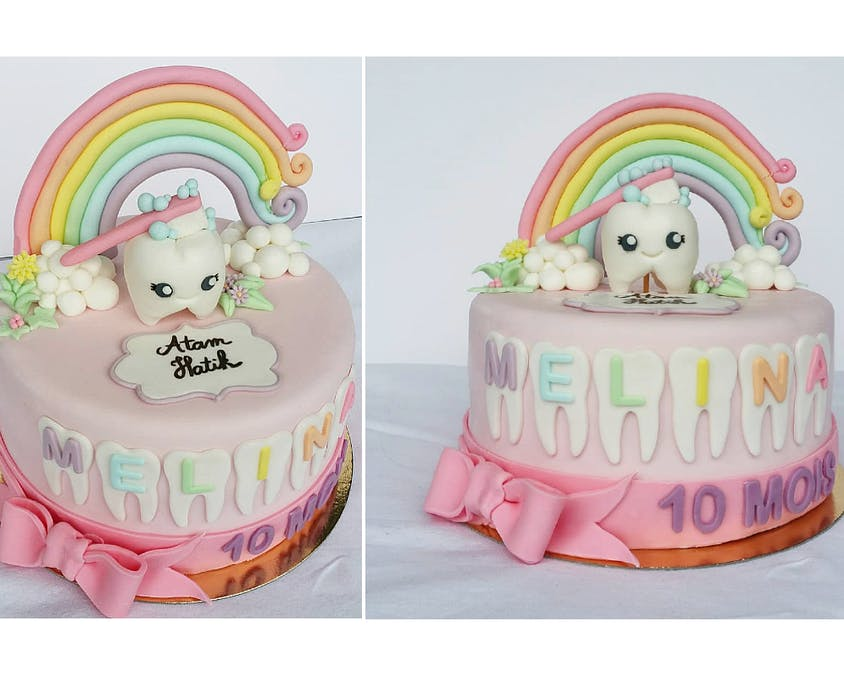 Un gâteau pour célébrer les dents de lait