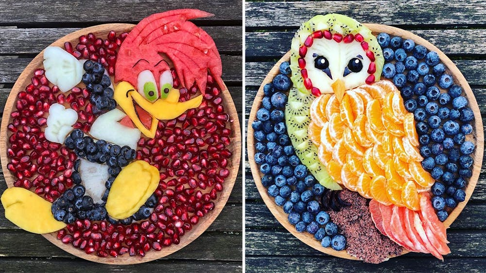 Les assiettes fruitées de Sarah Lescrauwaet-Beach