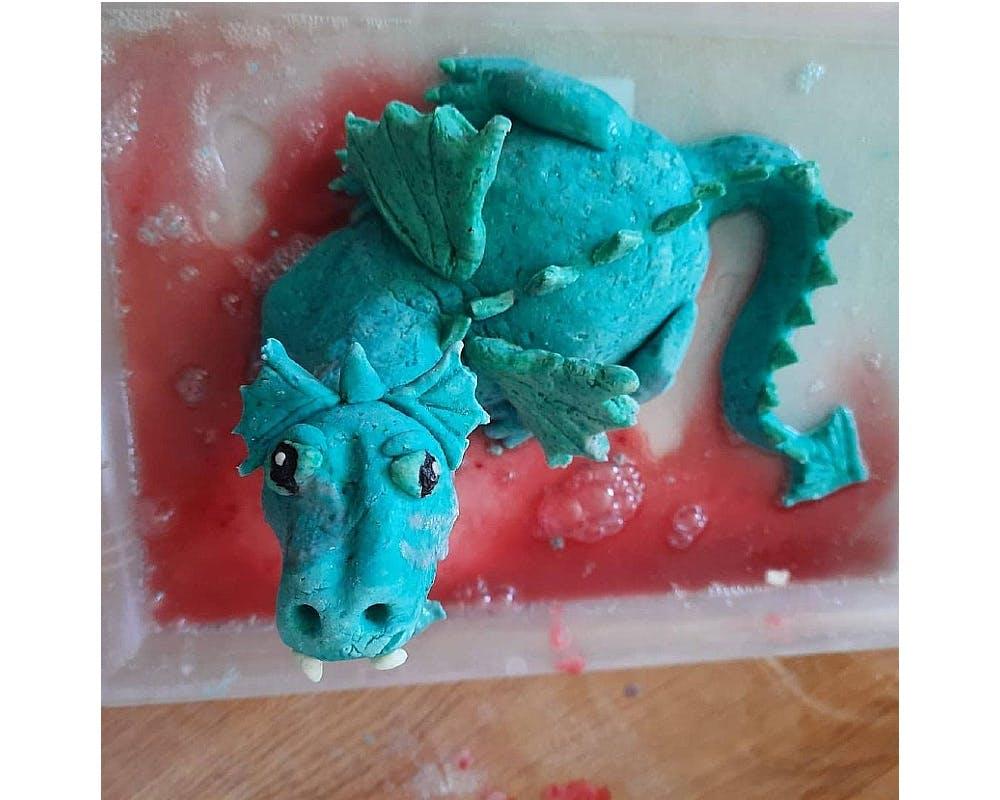 dragon en pâte à sel
