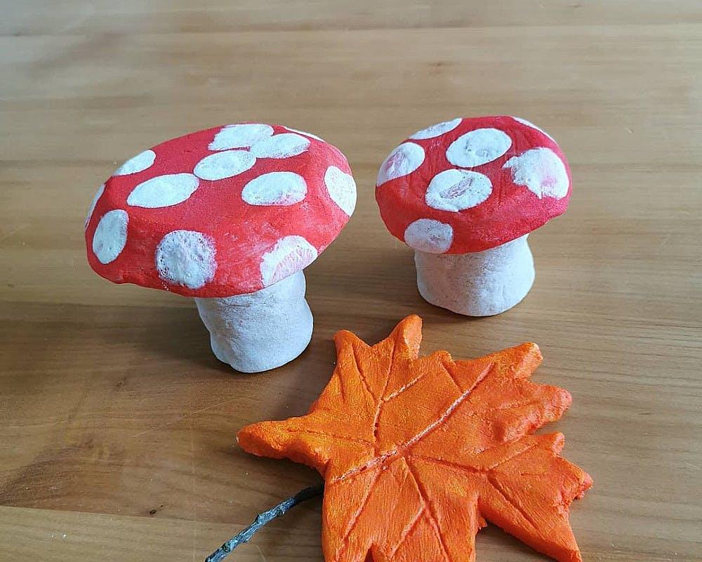 Les champignons en pâte à sel