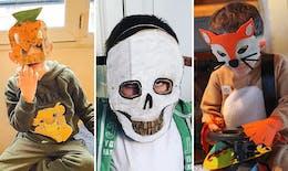 16 masques d'Halloween pour enfants très faciles à fabriquer