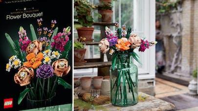 bouquet de fleurs en Lego