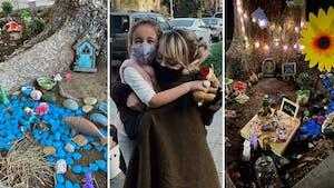 À 4 ans, elle crée un jardin féérique pour s'occuper pendant le confinement et sa voisine l'encourage en se transformant en fée !