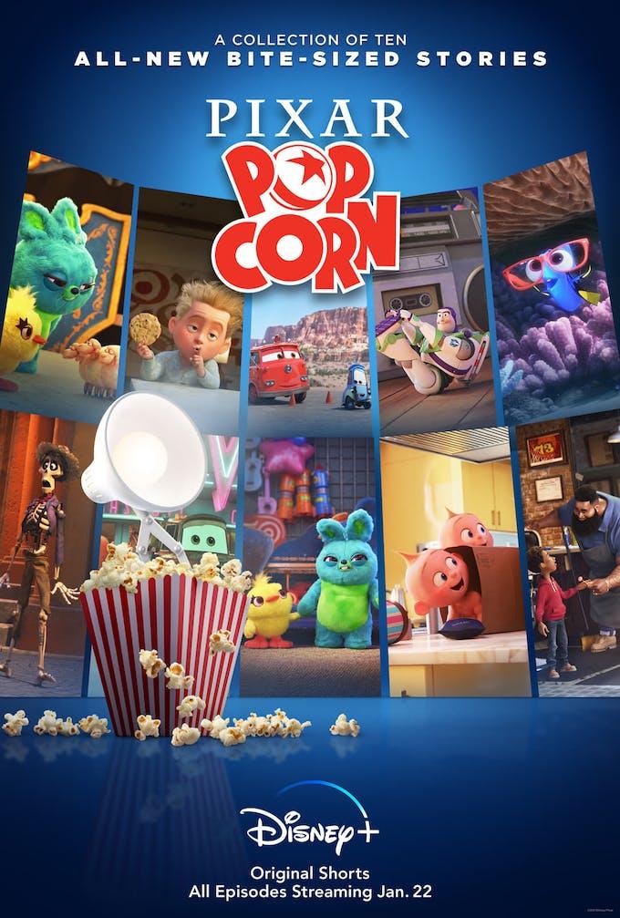 Pixar Popcorn Disney+ poster