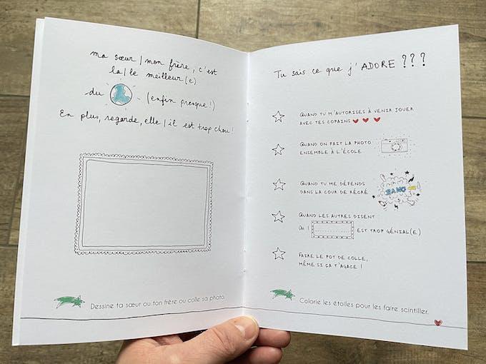 Petit cahier d'amour à offrir - Frères et soeurs extrait 2