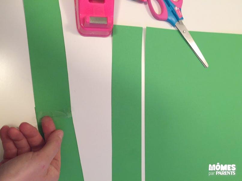 Assembler les bandes pour former une longue crête