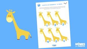 Compter avec les empreintes de doigts : la girafe