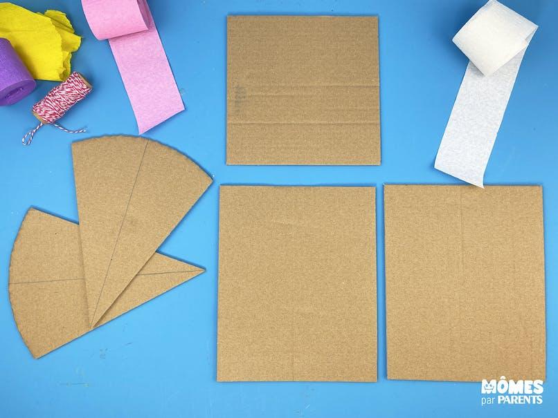 Découper les formes dans le carton