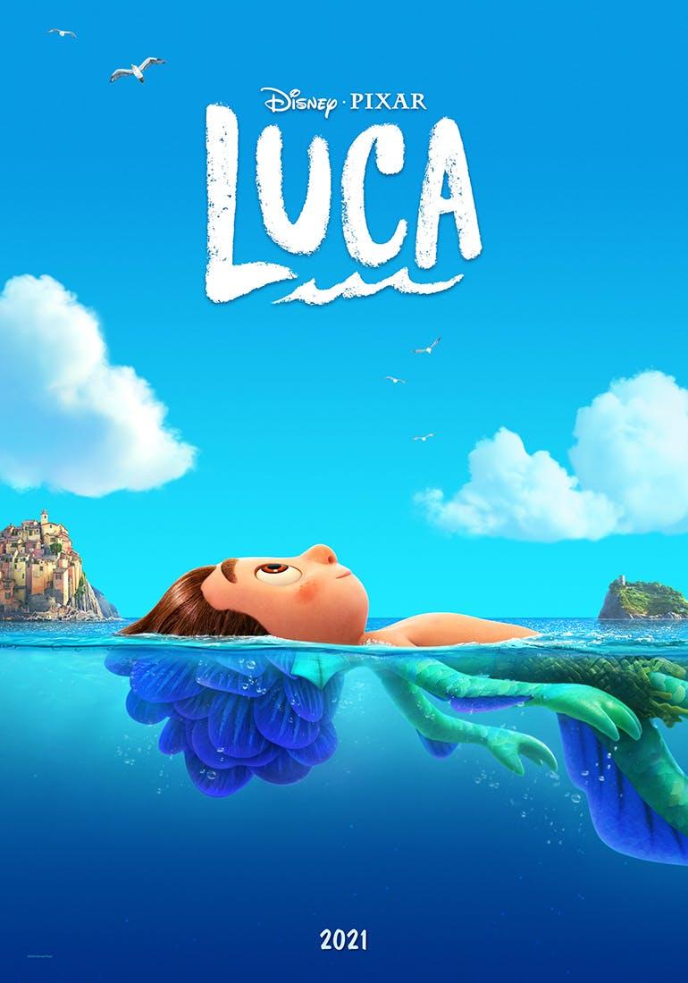 Luca film Disney Pixar affiche